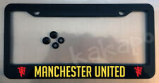 Manchester United Black License Plate Frame + Screw Caps