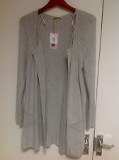 M&S Collection Perfect Layering Longline Open Front Cardigan Size: Large