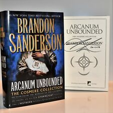 Arcanum Unbounded Cosmere Collection SIGNED by Brandon Sanderson (Mistborn) NEW