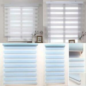 Simple Style Customized Double Layer Roller Zebra Blinds For Windows