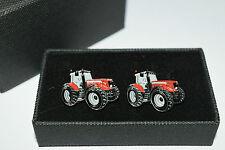 Red Massey Ferguson Tractor Cufflinks-ideal Gift Boxed Wedding/farming Enamel