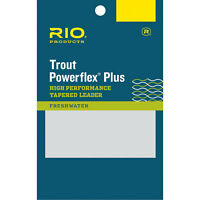 RIO Powerflex Plus Leader Single or 3 Pack - 7.5FT / 9FT Sizes all Weights