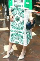 New Tory Burch Garden Party Floral Greenfield Embroidered Dress Midi Skirt US 4