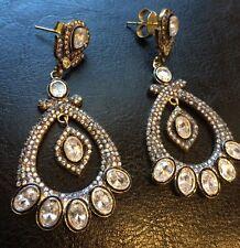 18k on4k Real gold Victorian Nizam Mughal Earrings Danglers RedCarpet Oscar Gala