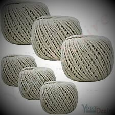 Pack of 3 Balls Of Cotton String Twine Rope decor croft Home Office Three Balls