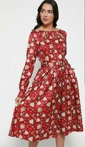 NWT LINDY BOP LAUREL CHRISTMAS BAKING RED DRESS SIZE 12  CHRISTMAS DAY OUTFIT
