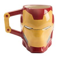 Marvel Iron-Man 20 oz. Sculpted Ceramic Mug Tony Stark MCU Coffee Gift Downey Jr