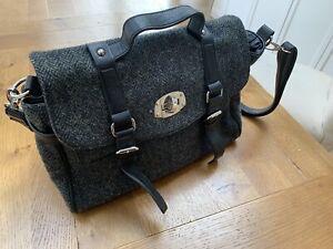 Harris Tweed Grey/Blue Herringbone Shoulder Bag/Handbag