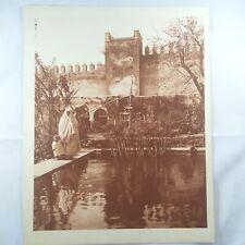 Photo Flandrin - large Heliograph Editions Mars - 23 Rabat Maroc Bassin Oudayas