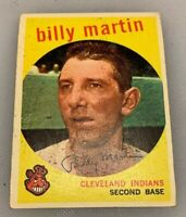 1959 Topps # 295 Billy Martin Baseball Card Cleveland Indians