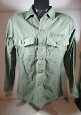 Vintage 1976 15 1/2 x 33 US Army Shirt Utility OG-107 Pollock Uniform Cotton Sat