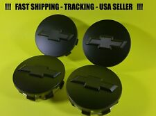4 Flat Black Center Caps For Chevy 2015 - 2016 Tahoe Suburban Truck  20942033