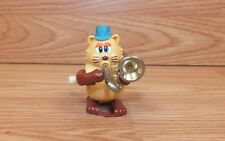 Genuine Tomy Vintage Wind-Up Cat W/ Blue Hat Playing A Trumpet Only **READ**