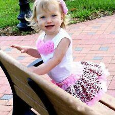 Baby Girls toddler leopard print 2 piece Suit Set tutu Summer Outfit