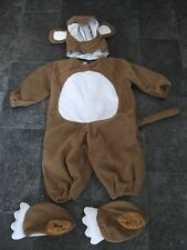 Pequeña Bebe Mono Todo en uno traje edad 1 años 12 meses con cola sombrero y botas