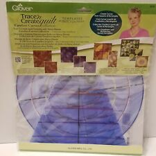Clover Trace n Create Quilt Templates Carefree Curves Collection, New in Package