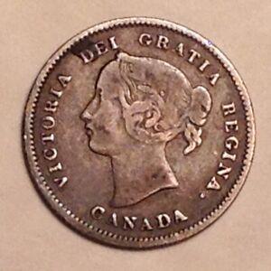 1900 Canada VIctoria Five 5 Cents