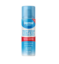 Dermal Therapy Foot Odour Control Powder Spray 210ml 24 Hour Protection