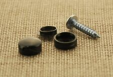 ASTON MARTIN NUMBER PLATE SELF TAPPING SCREWS WITH BLACK CAPS FIXING KIT (10Pcs)