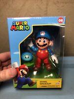 World of Nintendo - Jakks Pacific -  Ice Mario - 4 Inch Action Figure New Wave