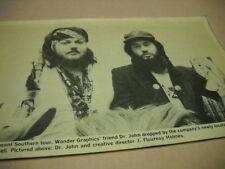 Dr. John & J. Flournoy Holmes at Wonder Graphics original 1974 music biz pic/txt