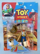 Disney Toy Story Quick-Draw Woody Action Figure 1999 Thinkway Toys Vintage NEW