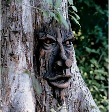 Realistic wooden Carved Garden Tree Face Mystical Face Garden Tree Decoration