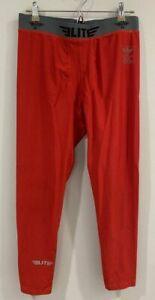 Elite Sports World Class Fighting Apparel Men's Red Spandex Blend Pants XL
