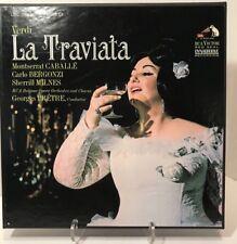 Verdi La Traviata Gaballe Bergonzi Milnes Pretre 3LP BOX RCA Red Seal LSC 6180