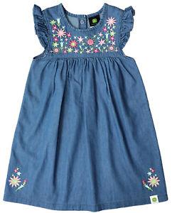 NEW John Deere Toddler Blue Denim Chambray 2 pc Dress & Bloomers Size 2T 3T 4T