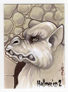 Perna Studios Halloween Hallowe'en 2 Darla Eklund Sketch Card