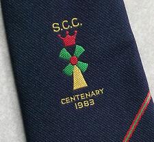 SPONDON CRICKET CLUB CENTENARY 1983 TIE S.C.C. NAVY RETRO 1980s BY ALEC BROOK