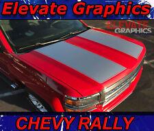 2014-2015 Chevy Silverado Rally Hood Stripe Silverado 3M Decals Graphics Stripes