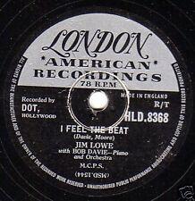 """1956 Jim Lowe 78 """"por usted, por usted, por usted/me siento el ritmo"""" London Hld 8368 E -"""