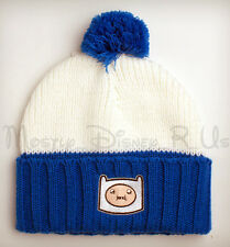 Adventure Time W/ FINN & Jake Knit Pom Cuff Plush Winter Beanie Hat NWT