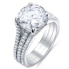 5.55 Ct Round Cut Diamond Engagement Ring round Pave Setting J,VS1 GIA Platinum