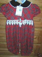 NWT ROSE COTTAGE CHRISTMAS ROMPER OUTFIT 12 Mo holiday