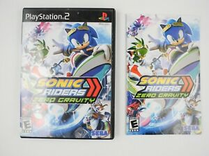 *No Game* Sonic Riders Zero Gravity Sony PlayStation 2 PS2 Case & Manual Only