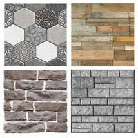 3D Wall Paper Brick Stone Self-adhesive Wall Sticker Retro Home Decoration