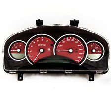 04-06 Pontiac GTO Holden Commodore 200mph Instrument Gauge Cluster Red