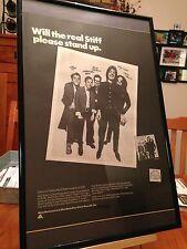 2 Big 11X17 Framed Elvis Costello Stiff Records Nick Lowe Lp Album Cd Promo Ads