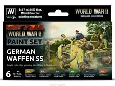 6 17ml Bottle WWII German Waffen SS VALLEJO HOBBY PAINT MODELING SET 70207