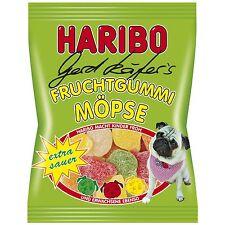 Haribo Gerd Käfer's Pugs - SOUR gummy bears -150g