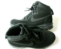 Nike Mens Manoadome Leather Hiking boots Triple Black Size 9 New 844358 003