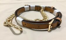 MICHAEL KORS SMOOTH LEATHER SHOULDER ADJUSTABLE CHAIN STRAP  ACORN/GOLD NWOT