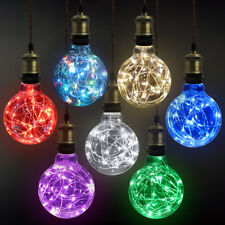 LED G95 Decorative Wire Fairy String Light Bulb X-mas Festival Garden Party E27