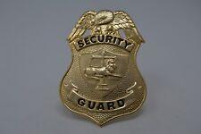 SECURITY GUARD GOLD TONE BADGE CAP DEVICE  EAGLE LION SCALE