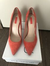 topshop womens shoes size 6 Coral Suede High Heels