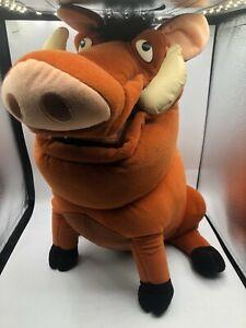 Large Walt Disney Store The Lion King Pumbaa Warthog Plush Stuffed Toy Animal