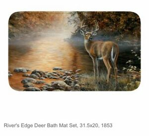 "31.5"" x 20"" Memory Foam Mat Bath Kitchen Outdoors Deer Buck FREE SHIPPING!"